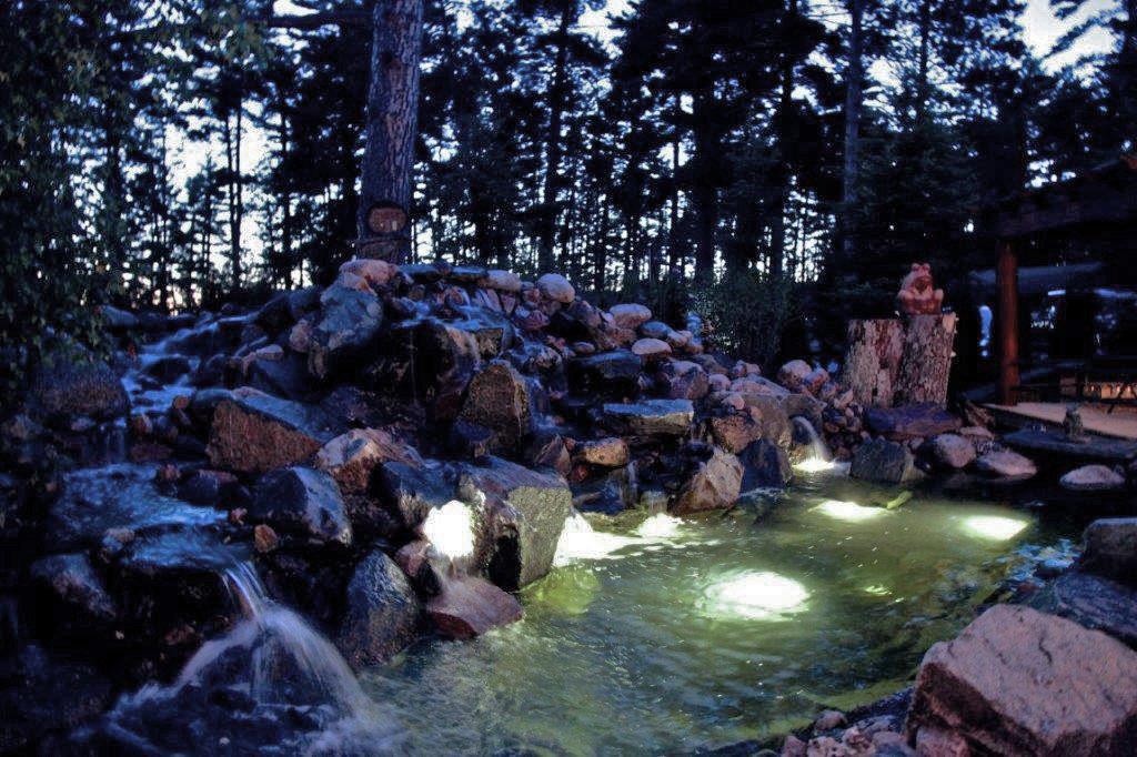 compressed Rocks Waterfall at night 2014
